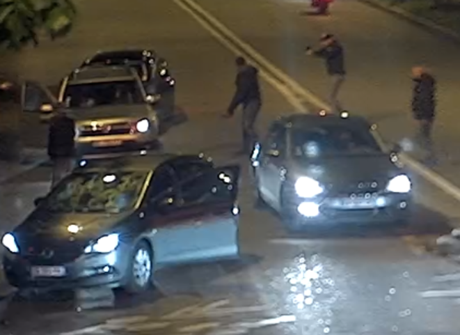 CCTV images captured the illegal arrests of six innocent young men in April 2019, and the moment one officer fired at their vehicle (full video in the article page).