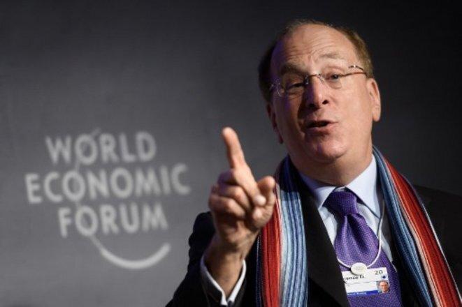 Larry Fink, fundador y presidente de BlackRock, en la Cumbre de Davos en enero de 2020. © Fabrice Coffrini/AFP