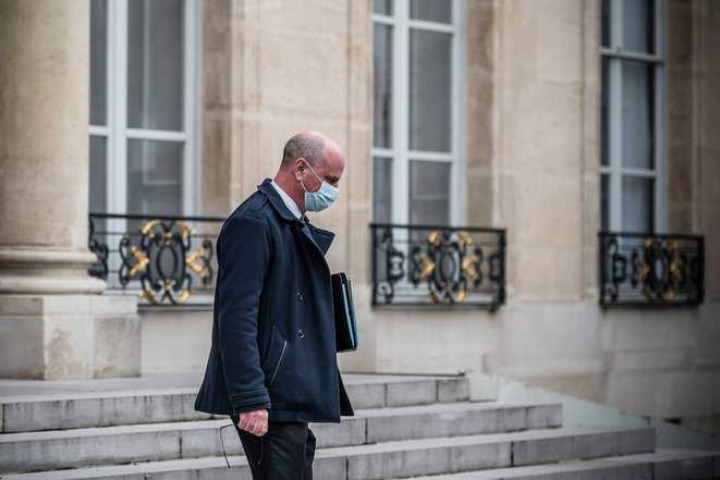 Jean-Michel Blanquer à la sortie du conseil des ministres, le 25 novembre 2020. © Nicholas Orchard / Hans Lucas via AFP