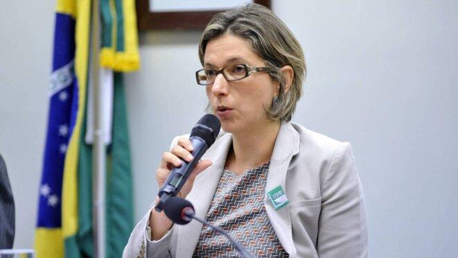 Christiane Machado, commissaire de la police fédérale. © Photographie Alex Ferreira / Câmara dos Deputados