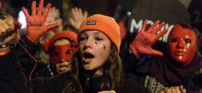 25 novembre 2019. Manifestation à Nantes © Estelle Ruiz / NurPhoto via AFP