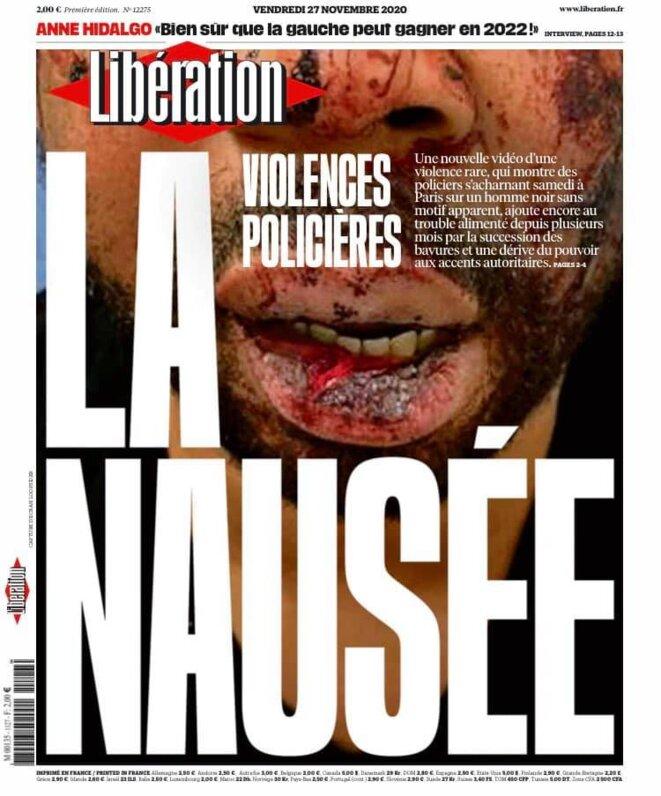 """La """"une"""" de Libération, 27 novembre"""