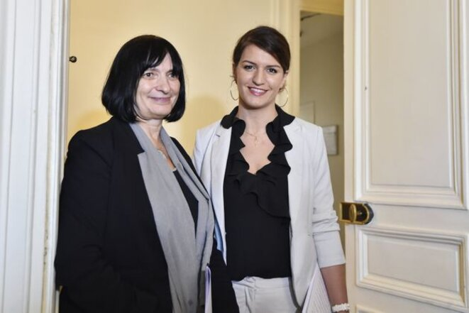Muriel Salmona et Marlène Schiappa © Claude Carrère