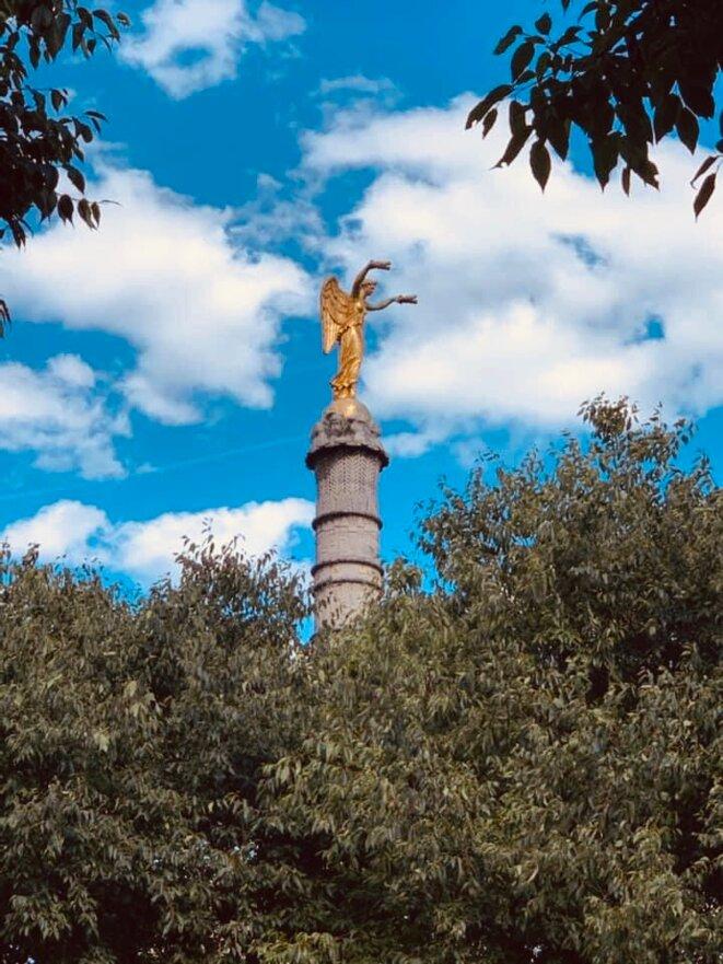 Victoire de la fontaine du Palmier, place du Châtelet, Paris © Frédéric L'Helgoualch