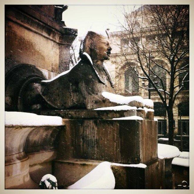 Sphinx de la fontaine du Châtelet © Frédéric L'Helgoualch