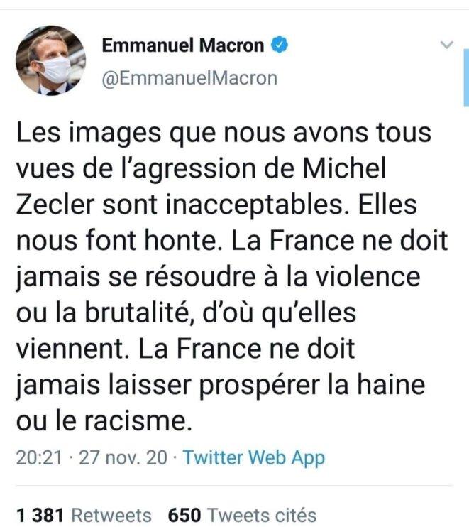 tweet © Emmanuel Macron