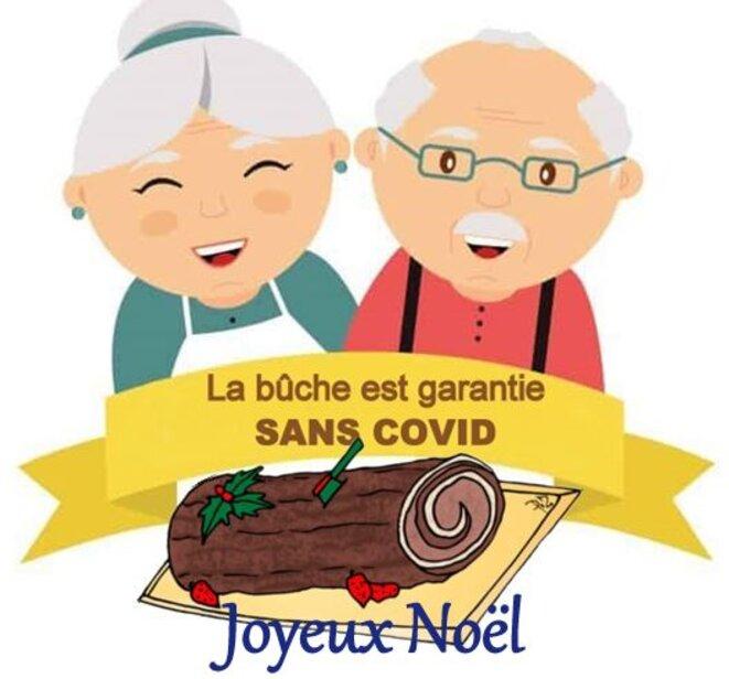 Papy et Mamie Joyeux Noël © Claude Carrère