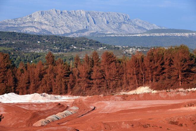 Les déchets de l'usine Alteo de Gardanne. © Boris Horvat / Archives AFP