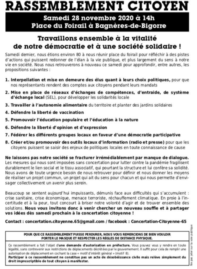 Rassemblement Citoyen © Concertation Citoyenne Bagnères-de-Bigorre