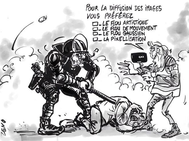Violences policières et flou artistique © Zeno