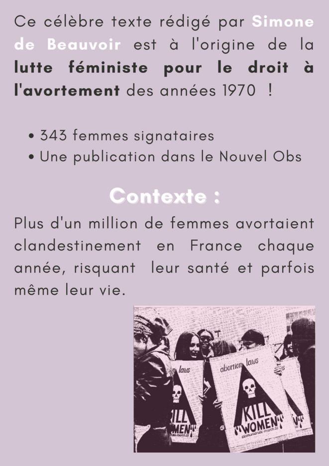 Je suis l'une d'elles, documentaire en préparation d'Adeline Laffitte et de Valérie Jourdan, rendra la parole aux protagonistes méconnues du Manifeste des 343. © Femmes & cinéma