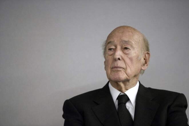 Valéry Giscard d'Estaing at Le Bourget,near Paris, October 14th 2014. © Stéphane de Sakutin/AFP