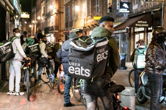 Dans les rues de Toulouse, le 30 octobre. © Adrien Nowak / Hans Lucas via AFP