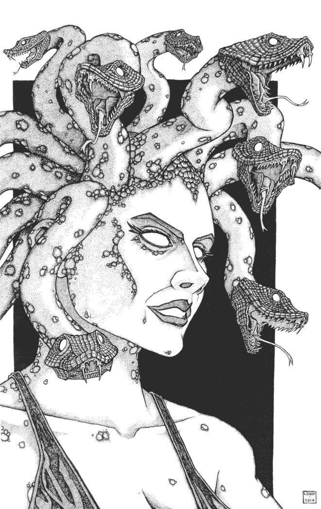 Gorgon Medusa - Final Inks - © Jason Lenox