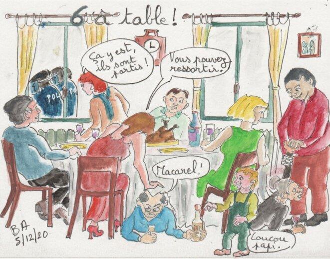 6 à table, comment s'organiser en famille © Les croquis de BA