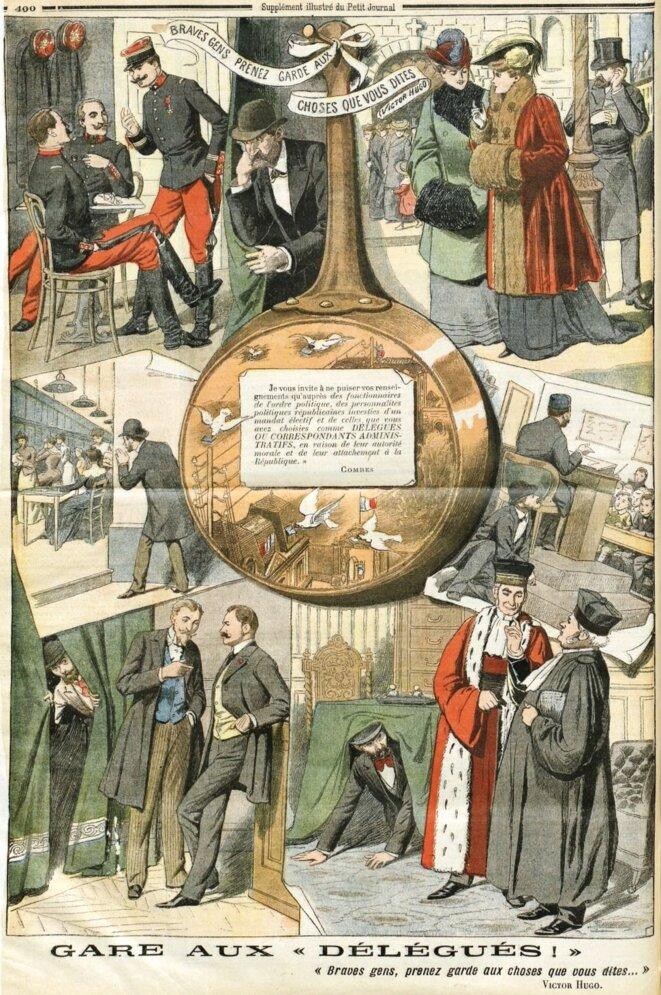 Gare aux délégués. Illustration du 11 décembre 1904 © Domaine public