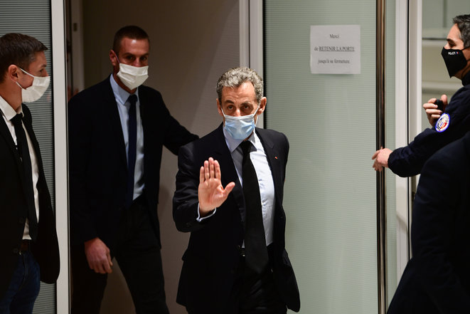 Nicolas Sarkozy at the courtoom in Paris, December 8th 2020. © Martin Bureau/AFP