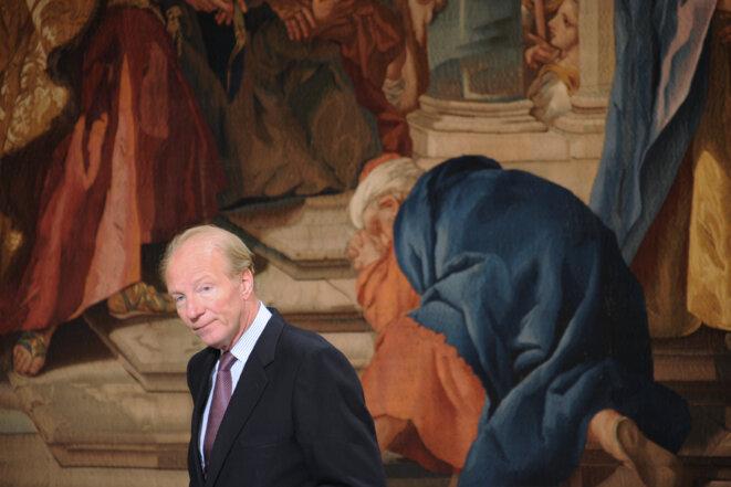Brice Hortefeux, en mai 2010, au palais de l'Élysée. © LIONEL BONAVENTURE / POOL / AFP