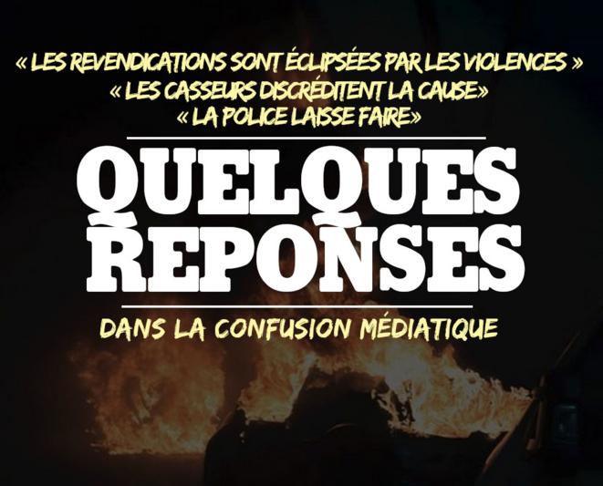 """Quelques réponses aux medias sur les """"casseurs"""" © Nantes Révoltée"""