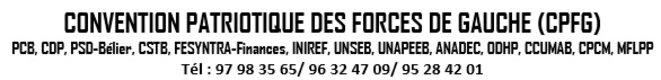 Bénin, Convention Patriotique des Forces de Gauche