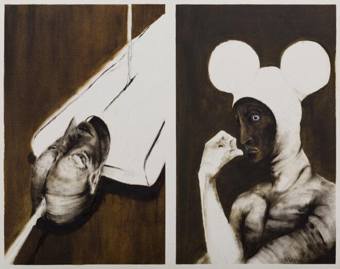 Untitled ,Nawel Louerrad 2020. huile et toile. 1mX75 cm