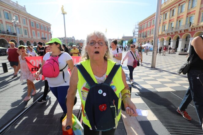 Geneviève Legay le 28 septembre 2019 à Nice. © Valery Hache/AFP