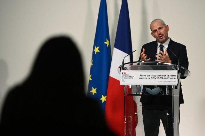 Conférence de presse de Jérôme Salomon le 7 décembre 2020. © Christophe Archambault/AFP