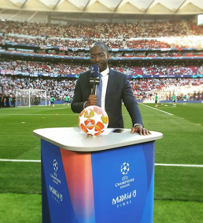 Le journaliste a rejoint Canal+ Sport Afrique en 2016 et présente notamment les soirées Ligue des Champions © DR