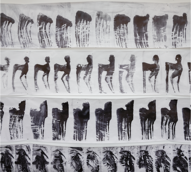Les Areignées. Nawel Louerrad, 2020. papier et encre.