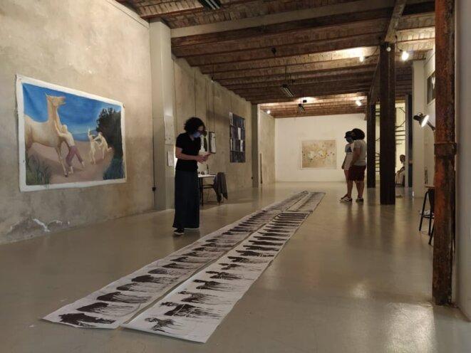 """Desirare, """"Visite d'Atelier, juin/juillet 2020. Résidence Fella Tamzali. Nawel Louerrad"""