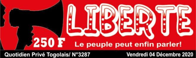 Liberté N° 3287 du  4 décembre 2020