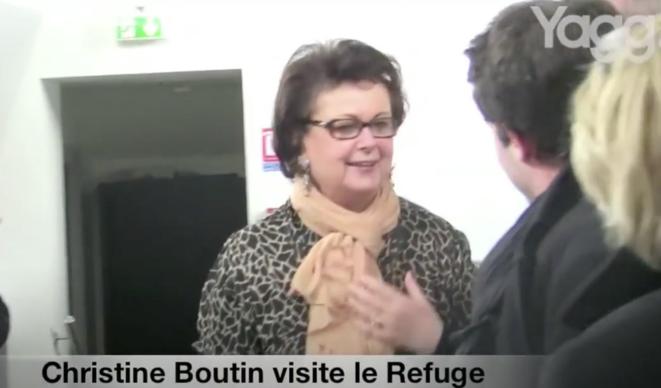 Christine Boutin invitée au Refuge en 2012. © Yagg