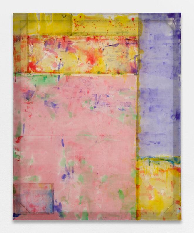 Louis Cane, « Peinture vraiment abstraite », résine sur grillage, 175 x 142 cm, 2018, © galerie Ceysson & Bénétière