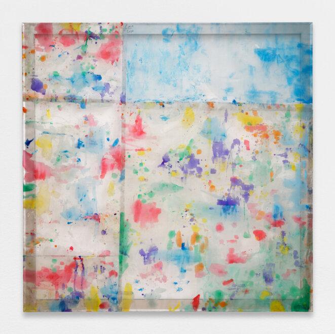 Louis Cane, « Peinture vraiment abstraite », résine sur grillage, 143 x 143 cm, 2020, © galerie Ceysson & Bénétière