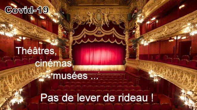 Théâtes, cinémas fermés © Alain Laugier