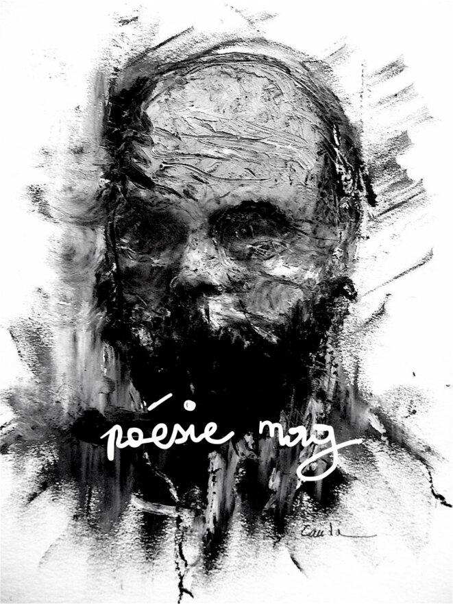 Poésie Mag.  Verlaine. Dessin de © Jacques Cauda - DR