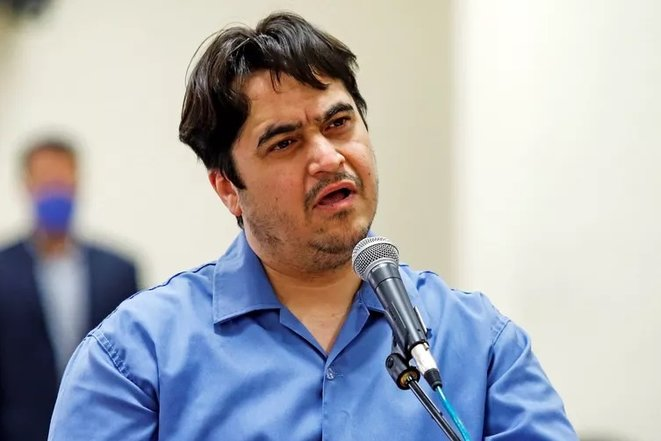 Le journaliste Rouhollah ZAM lors de son procès en juin 2020 © X