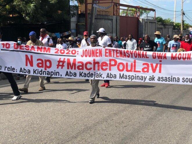 La marche pour la vie, le 10 décembre à Port-au-Prince. © PAP-Post
