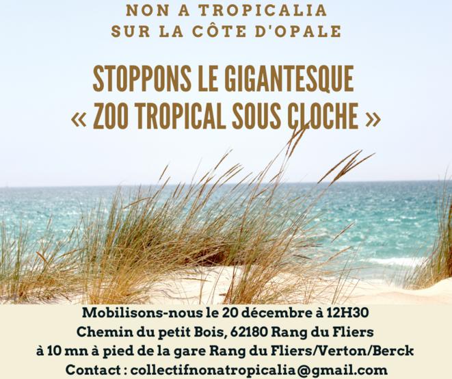 Appel au rassemblement du 20 décembre 2020-Tropicalia