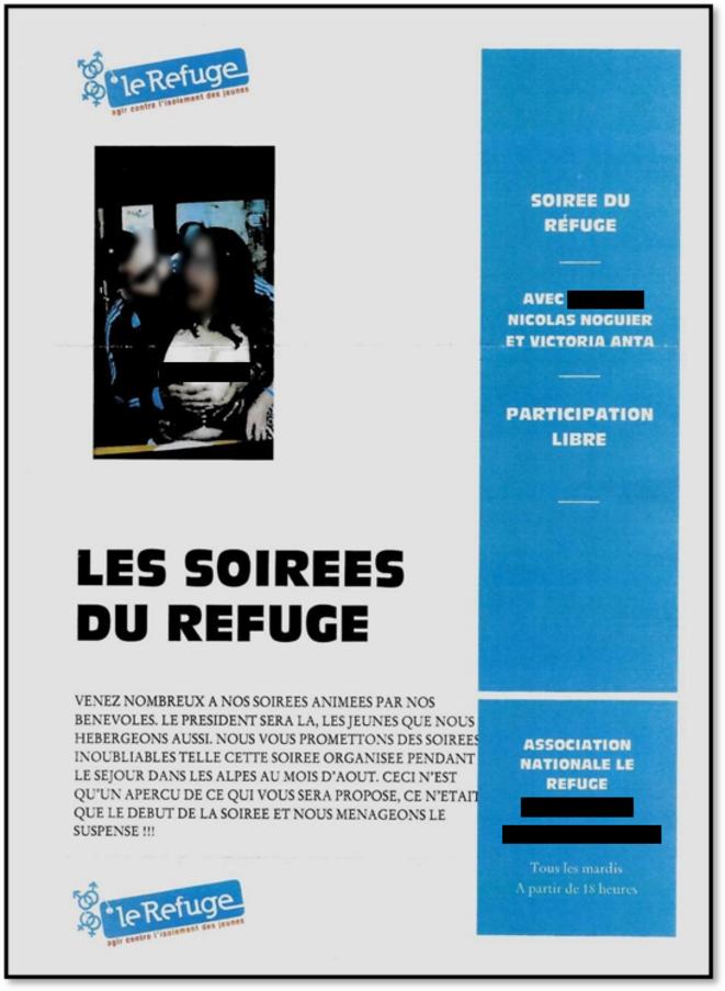 Tract anonyme envoyé à plusieurs membres du Refuge