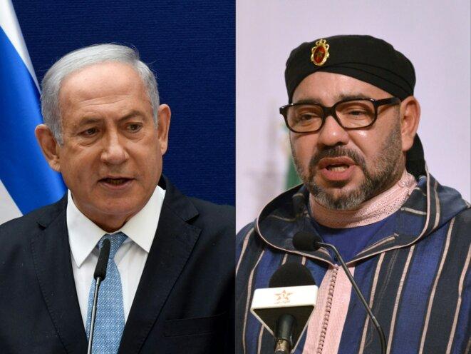 Netanyahou et Mohammed VI. © DEBBIE HILL, Laudes Martial MBON / AFP / POOL