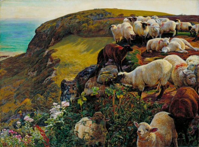 Our English Coasts, 1852 (Strayed Sheep) © William Holman Hunt