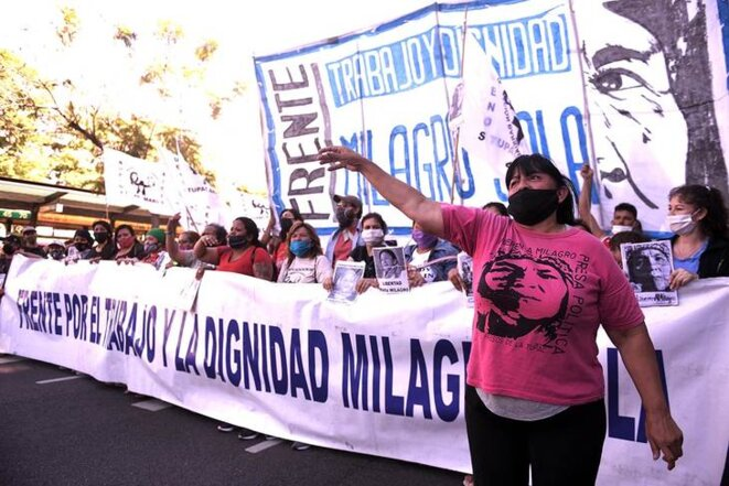 Manifestation pour la liberté de prisonniers politiques © Tiempo Argentino
