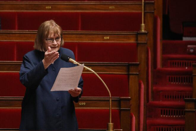 Le rapport issu de la commission parlementaire a été voté à l'unanimité. La rapporteuse, Marie-George Buffet, espère que « ça fera bouger l'exécutif ». © Stephane LEMOUTON / POOL / AFP