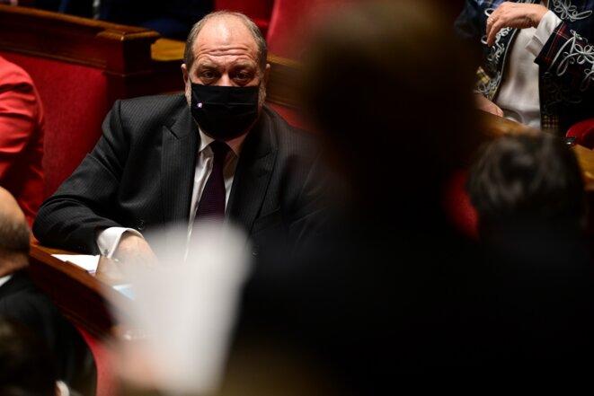 Éric Dupond-Moretti, le 15 décembre 2020, à l'Assemblée nationale. © MARTIN BUREAU / AFP