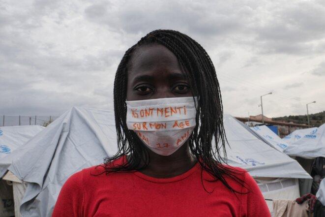 « Ils ont menti sur mon âge, j'ai 17 ans » Jacqueline, congolaise de 17 ans. © Lucas DALLANT