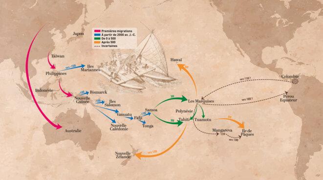 La colonisation des Îles du Pacifique © Laure Jacob