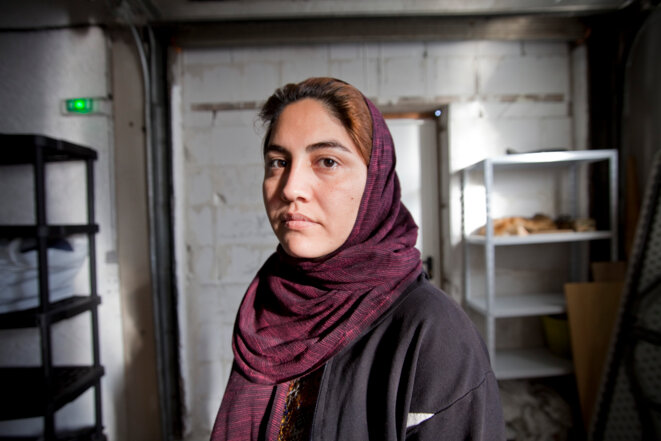 Portrait d'une refugiee Afghane © Durand Thibaut