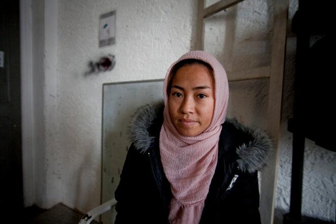 Portrait d'une refugiée Afghane © Durand Thibaut