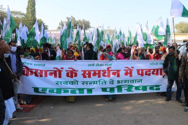 Départ de la marche à Morena le 17.12.2020 © Ekta Parishad